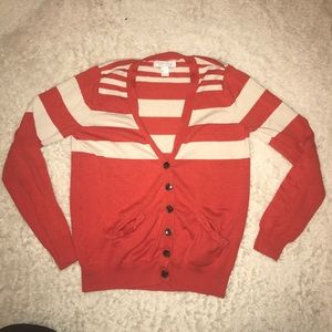 Forever 21 Cardigan- Red & Tan
